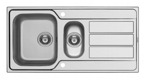 Pyramis Athena 1.5 Bowl Inset Sink - 50x100cm Stainless Steel